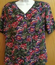 Worthington short sleeve blouse size 12 floral print