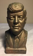 Vintage John F. Kennedy Gold Colored Bust Figure Statue Sculpture Daniel Hold Co