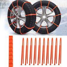 Emergency Car Tire Chain For Winter Snow Antislip Mini Universal Plastic 10pcs