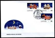 Weihnachten. Masken. FDC. Lettland 1997