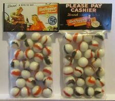 2 Bags Of Dr. Pepper Drink A Bite To Eat Soda Promo Marbles