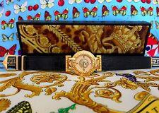 vintage GIANNI VERSACE SIGNATURE Medusa Gold Plated G20 Women's Watch 93 w/ box