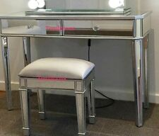 2 Drawers Mirrored Makeup Vanity Table/Dressing Table - Mirror furniture