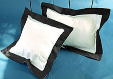 Set of 2 Piece Border Pillow sham 1000 TC Egyptian Cotton Solid All Size & Color