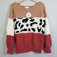 HQ   Womens Wool Blend Knit Jumper NEW [ Size S / M or AU 10 - 12 / US 6 - 8 ]