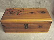 VINTAGE CEDAR BOX Rose & Mother Poem Decal - SAULT STE. MARIE, MICH Souvenir