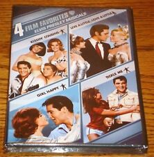 ELVIS 4 FILM FAVORITES KISSIN' COUSINS, GIRL HAPPY, TICKLE ME, LIVE A LITTLE DVD