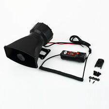 Loud Horn 12V Car Siren Auto Van Truck PA System 60W Max 300dB 5 Sounds tone BE