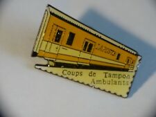 PIN'S Wagon Orange Street Vendors La Post Coups Of Buffer Metier Chemin Iron