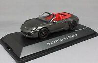 Schuco Porsche 911 991 Carrera GTS Cabriolet in Anthracite 2014 450757700 1/43