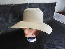 Old Vtg Women's FLOPPY HAT Ivory Colored Marshall Field & Company Hat Bars