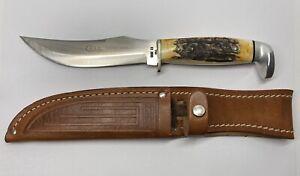 Case XX 523-5 SSP 1970's Hunting Knife - Razors Edge Etch - Genuine Stag Scales