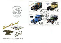 Luxembourg 2016 FDC Cars of Yesteryear Pt III 4v Cover Donnet-Zedel Ford Stamps