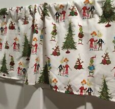 Dr. Seuss White Grinch Who Stole Christmas Curtain Valance