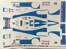 1/43 Decal, Riley & Scott,#31 Speedy, Gache/Formato/Thevenin, 24 h Le Mans 1999