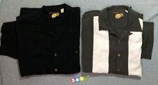 2 PC LOT CARIBBEAN Men Short Sleeve Button Up Shirt SILK BLEND Striped SzXL EUC