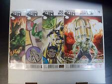 2014 Hulk vs. Iron Man ORIGINAL SIN Complete Set of 4 Comic Books (1-2-3-4) NM!