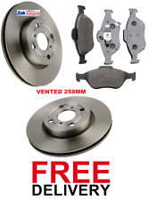 FOR TOYOTA YARIS 1.0 1.3 1.4  2006 -2012 TWO FRONT BRAKE DISCS AND PADS SET NEW