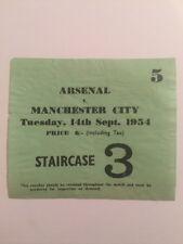 Ticket : Arsenal V. Manchester City 14/08/1954