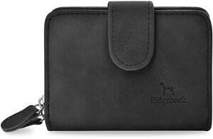kleine Damen Brieftasche weiches Portemonnaie Geldbeutel schwarz