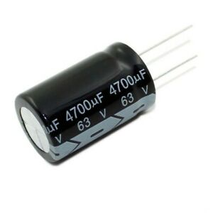 63V 4700uF Radial Electrolytic Capacitors 105C Tolerance ±20% Pitch 10mm