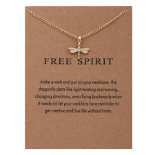 Free Spirit Dragonfly Gold Necklace on Gift Statement Card