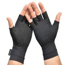 Anti Arthritis Compression Gloves Copper Fingerless Pain Support Rheumatoid UK