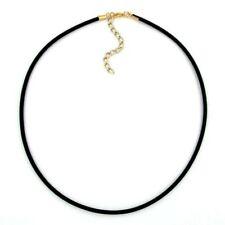 Band 3mm Gummi 45cm gold farbig Halskette Neu & Originalverpackt