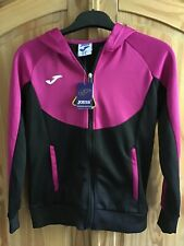 Joma Women's Tracksuit Hoodie Top Pink & Black Size 12 (NWT) (001)