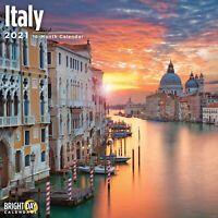 2021 Italy 12 x 12 Wall Calendar Travel European Beautiful Destination