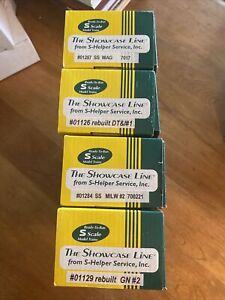 Showcase Line S Gauge Freight Cars Lot Of 4 Great Northern WAG DT&I CM ST P In B