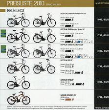 Preisliste Gepida 5/10 Fahrradpreisliste 2010 Fahrrad Pedelec Mountain Bike Rad