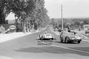 Porsche Type 550 A Spyder Austin Healey 100S 1955 24 hours Le Mans photograph