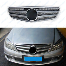 Front Silver Grille Fit For Mercedes-Benz C-Class W204 2007-2014 TSY01/530
