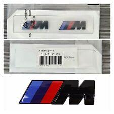 BMW M SPORT 2 X BADGE FENDER EMBLEM GLOSS BLACK  FOR BMW 1/2/3/4/5/6/7/X UK 🇬🇧