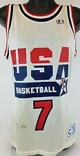 Larry Bird Signed Team USA Basketball Champion Jersey JSA COA #S39336