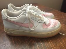 Nike Women's Low Air Force 1 Pink And White Shoe Size 6.5