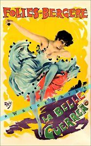 Cheret Folies Bergere La Belle Guerrer 1898 Vintage Poster Print Art Retro Ad