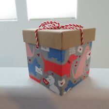 Heart Love Valentine Puppies Dogs Dachshund Wrapped Gift Box Molly & Rex New