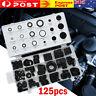 125 Pc Rubber Grommet Assortment Set Fastener Kit Blanking 18 Popular Sizes