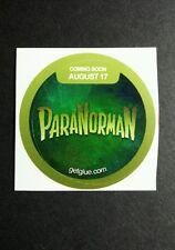 "PARANORMAN CARTOON TITLE NAME GREEN MOVIE SMALL 1.5"" GET GLUE GETGLUE STICKER"