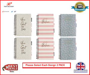 New 2 PACK A5 Printed Project Notebook 100 Sheets 70 gsm Lined Paper 3 DESIGNS