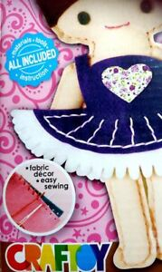 Learn to Sew for Kids SEWING DOLL KIT Ballerina Safety Needle Precut fabric Toy