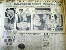 2 1926 newspapers BOBBY JONES WINS US OPEN GOLF CHAMPIONSHIP & Tells How he won