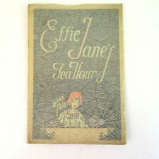 1920's Effie Jane's Tea Hour Recipe Book With Spider Web Dust Cover