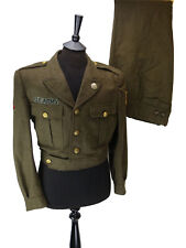 French Military Battledress Uniform Adapted With US Badges - Size No 24/33