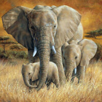 5D Diamond Painting Full Drill Elephant Family Embroidery Kits Home Decor Gifts