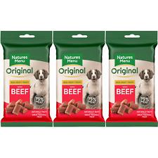 Natures Menu Dog Treats BULK BUY 1 3 9 or 12 Packs Chicken, Beef, Lamb & Chickem
