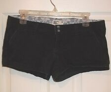 Womens AMERICAN EAGLE~BLACK BOOTY SHORTS~size 4~NEW~Daisy Dukes Chino STRETCH