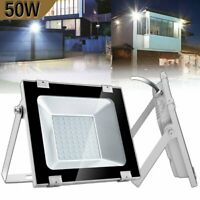 50W LED Flood Light Cool White Outdoor Lighting Security Yard Wall Work Lamp